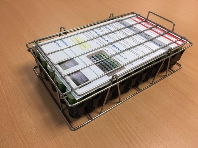 Présentation du kit pour prélèvements d'échantillons de lait de vaches individuelles